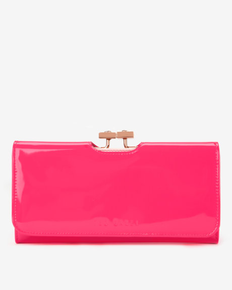 Patent leather matinee - Bright Pink | Purses | Ted Baker ROW