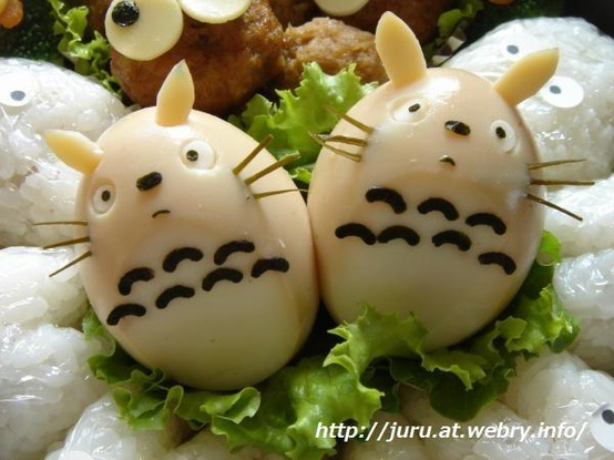 food / boiled egg totoro