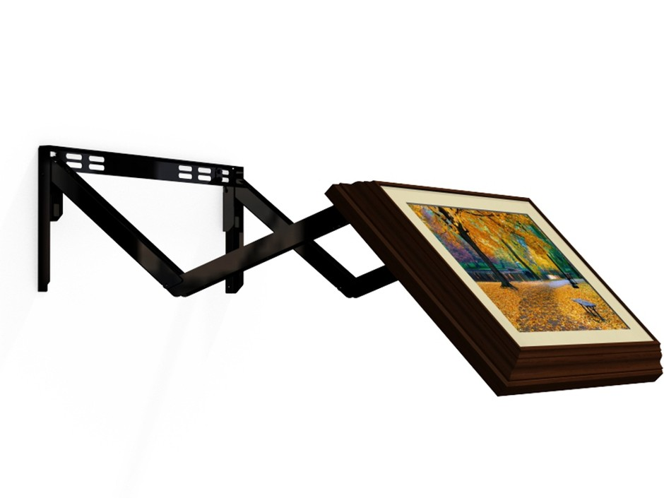 hiddenvision extended standard flip out tv wall mount sumally. Black Bedroom Furniture Sets. Home Design Ideas