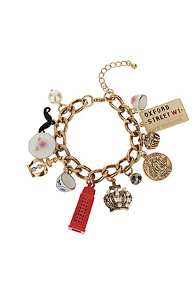 Jubilee Tea Cup Charm Bracelet - Collections - Topshop USA