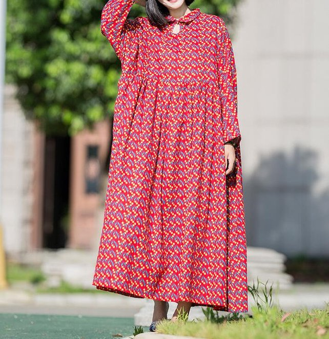 Cotton Dresses Oversized Loose Fitting Dresses Long Maxi | Etsy