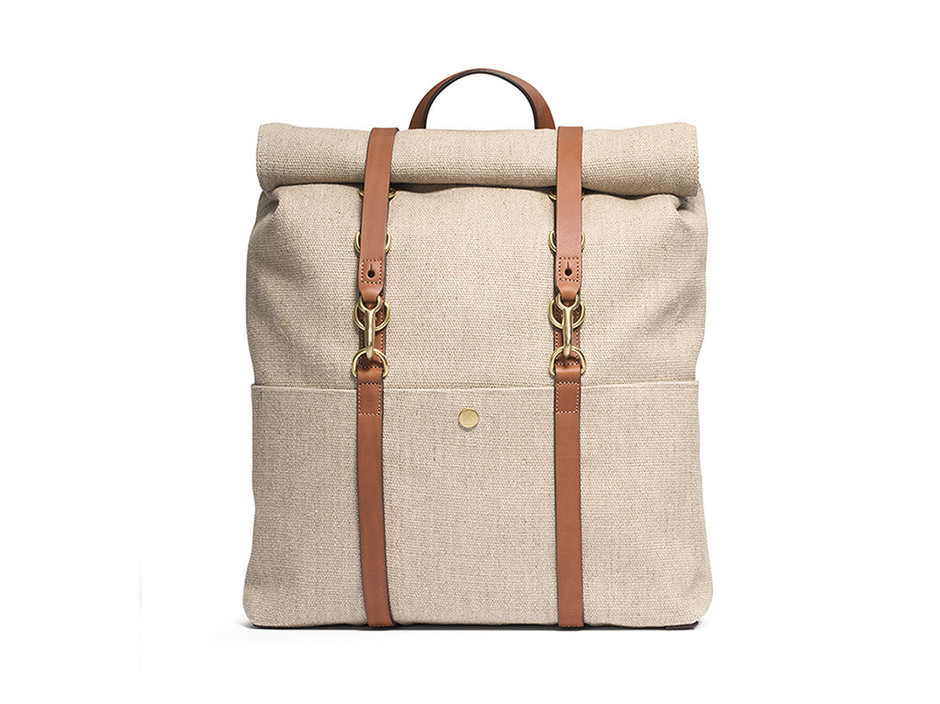 M/S Backpack – Linen/Cuoio - Mismo
