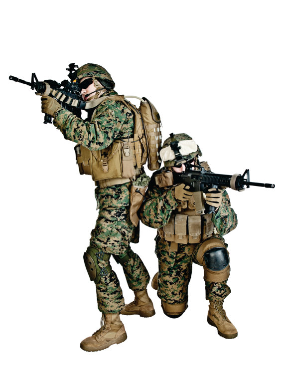 COOL US Military Army Soldiers With Guns by designwithvinyl