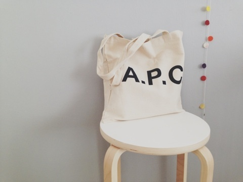 A.P.C. tote bag|LIFE by Eri