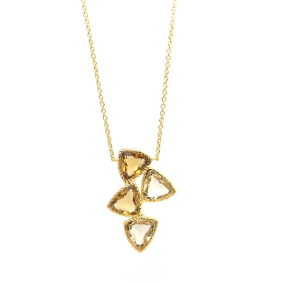 18K Gold Vermeil Lemon Quartz, Citrine Necklace : Arylza - Serendipity, Online Shopping For Vermeil and 925 Sterling Silver Jewelry