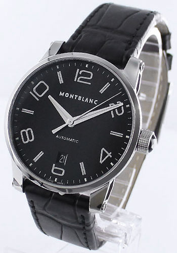 Rakuten: MONTBLANC timewalker automatic alligator leather black mens 105812- Shopping Japanese products from Japan