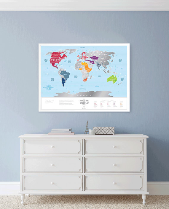 Travel Map Silver - scratch countries you've been to