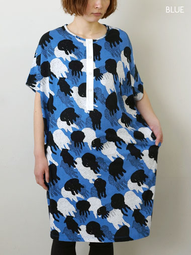 Flowing FLY FRONT OP   ワンピース     marble SUD online shop