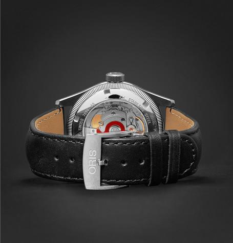 Oris - Big Crown Original Pointer Date Stainless Steel and Leather Watch