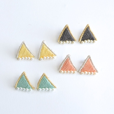 【patterie】prism triangle pierce & earring