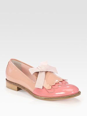 RED Valentino - Bicolor Patent Leather Bow Oxfords - Saks.com