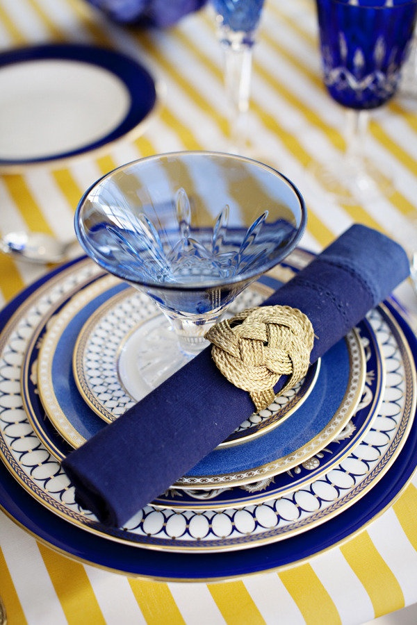blue and gold | Hostess with the Mostess