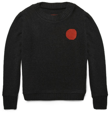 The Elder Statesman Sun and Moon Intarsia Cashmere Sweater | MR PORTER