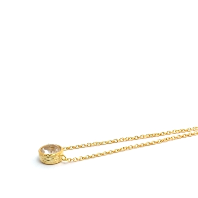 18K Gold Vermeil White Quartz Necklace : Arylza - Serendipity, Online Shopping For Vermeil and 925 Sterling Silver Jewelry