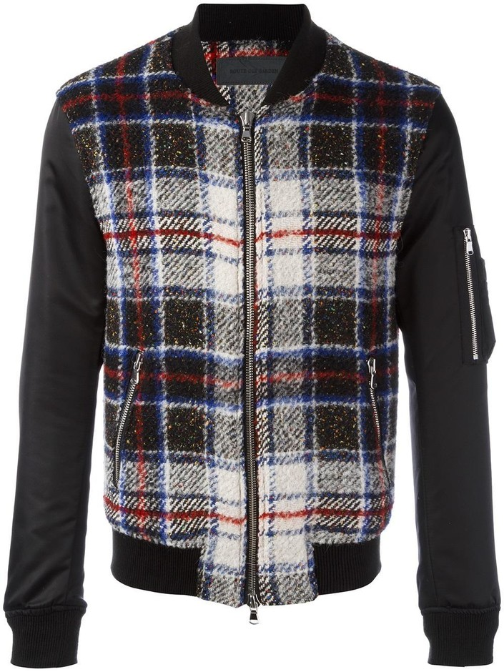 Route Des Garden Checked Bomber Jacket - O' - Farfetch.com