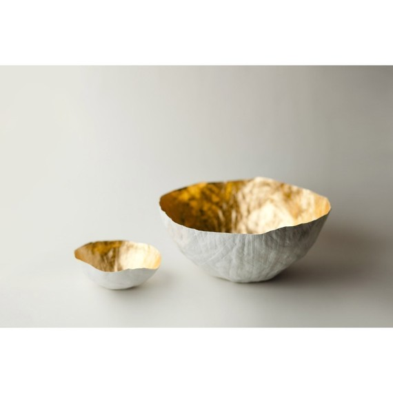 Small Gold Paper Bowl by upintheairsomewhere on Etsy