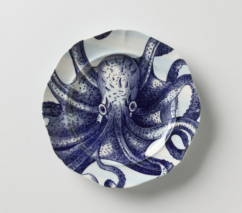 Anthropologie From The Deep Salad Plate, Octopus/Puffer(9494973):BUYMA (バイマ)