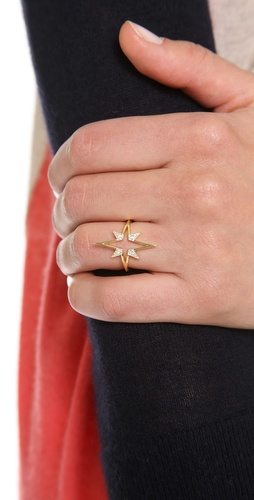 Elizabeth and James Northern Star Open Star Ring | SHOPBOP