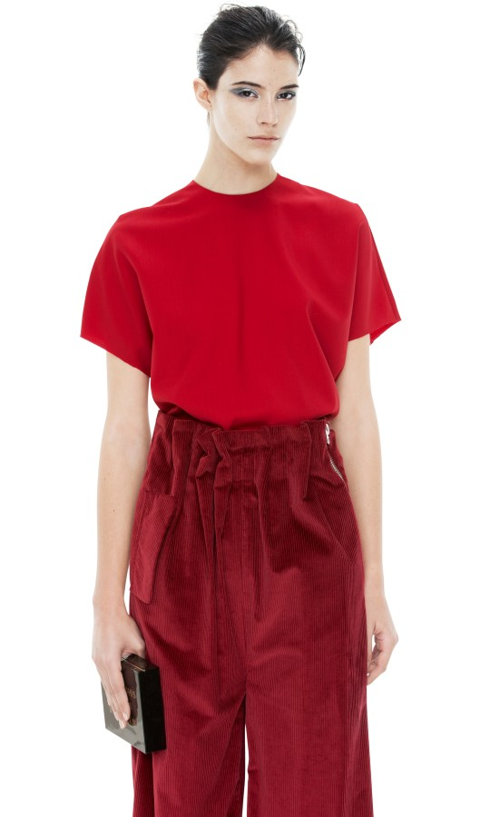 ACNE - Azade Tela Cadinal Red Shop Ready to Wear, Accessories, Shoes and Denim for Men and Women