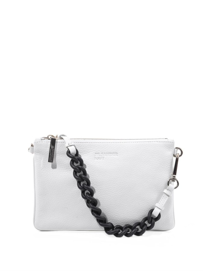 Rubber-chain and leather clutch | Jil Sander Navy | MATCHESFAS...