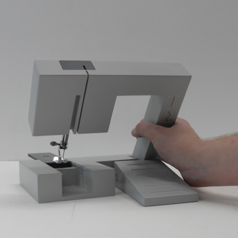 Foldable Sewing Machine by Richard Burrow at New Designers - Dezeen