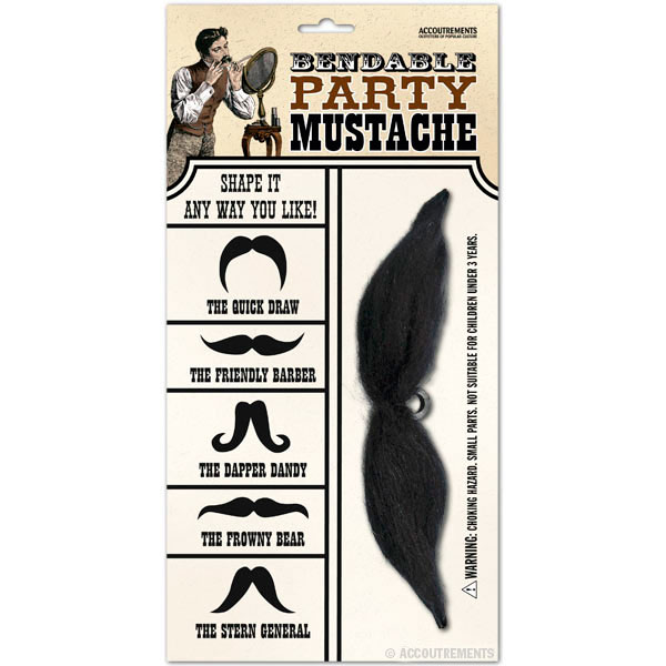 Bendable Party Mustache - Accoutrements