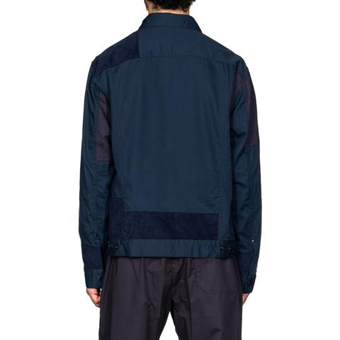 6.5oz Flat Twill Trucker Jacket Navy – HAVEN