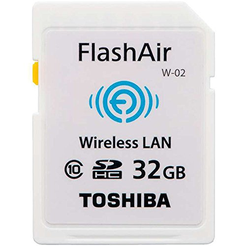 東芝 TOSHIBA 無線LAN搭載 FlashAir Wi-Fi SDHCカード Class10 日本製 並行輸入品 (32GB)