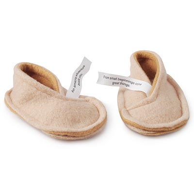 BABY FORTUNE COOKIE SLIPPERS   Booties, Shoes   UncommonGoods