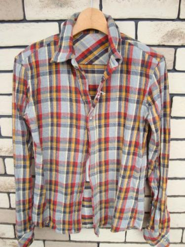 Lounge Lizard,FACTOTUM,Discoverd通販|ANYTHING GOES/商品詳細 REVERSIBLE WIRED SHIRTS GRAY×RED×YELLOW