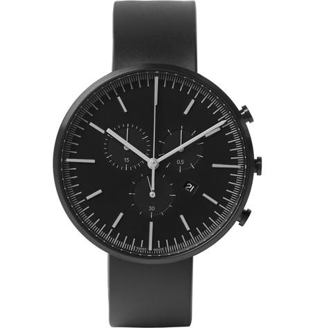 Uniform Wares - M42 Chronograph PVD-Coated Stainless Steel and Rubber Wristwatch
