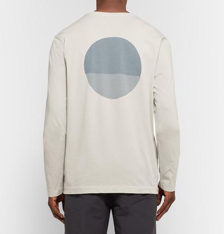 Mollusk - Moon Printed Cotton-Jersey T-Shirt