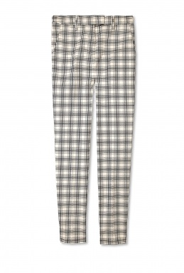 See by Chloe | Cream Jacquard Check Cigarette Trouser by See by Chloé