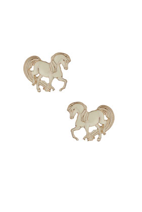 Pony Stud Earrings - Earrings - Jewellery - Accessories - Topshop
