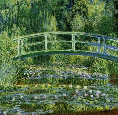 The Japanese Bridge (The Water-Lily Pond) - Claude Monet - WikiPaintings.org