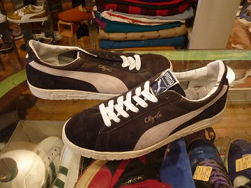 「<used>90's PUMA Clyde navy size:28cm 5800yen」完売