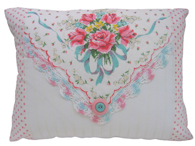 Primrose Design: vintage handkerchief pillows