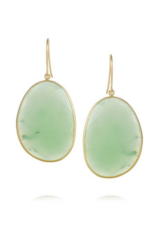 Pippa Small | 22-karat gold chrysoprase earrings | NET-A-PORTER.COM
