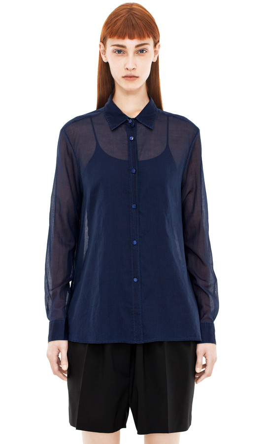 Acne Studios - Sydney indigo - Blouses - SHOP WOMAN - Shop Shop Ready to Wear, Accessories, Shoes and Denim for Men and Women