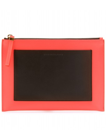 mytheresa.com - Balenciaga - TWO-TONE LEATHER POUCH - Luxury Fashion for Women / Designer clothing, shoes, bags