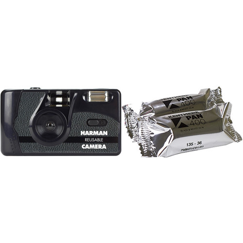 Ilford Harman Reusable 35mm Film Camera with 2 Rolls of 6014777