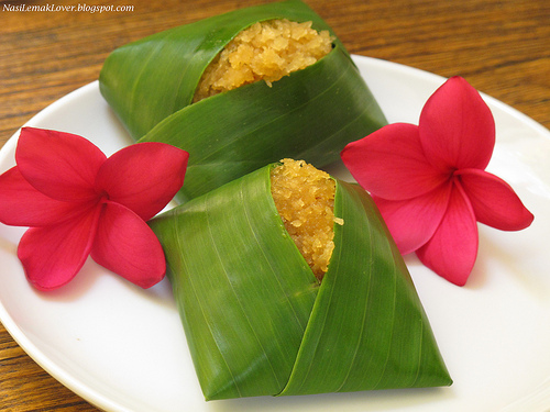 Nasi Lemak Lover: Pulut Inti ( Glutinous rice with coconut sweet filling)