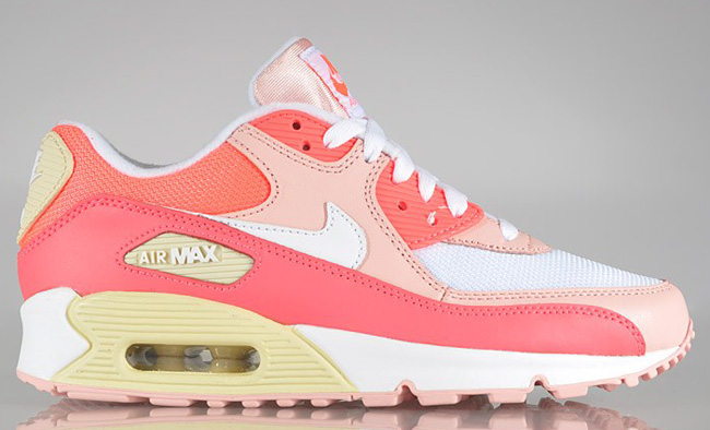new style 5d8c3 2e84d NIKE WMNS Air Max 90 Hot Punch, Storm Pink   Beach