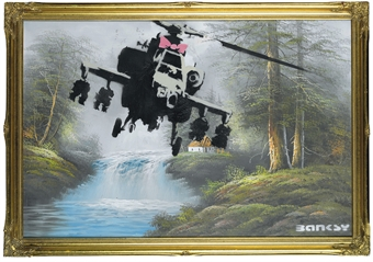 Banksy (b. 1975) | Corrupted Oil | Post-War & Contemporary Art Auction</li> | 2000s, Paintings | Christie's