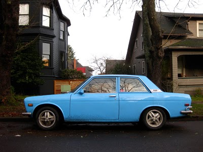 Old Parked Cars.: 1972 Datsun 510.