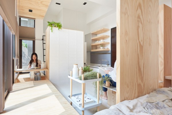 An Incredibly Compact House Under 40 Square Meters That Uses Natural Decor
