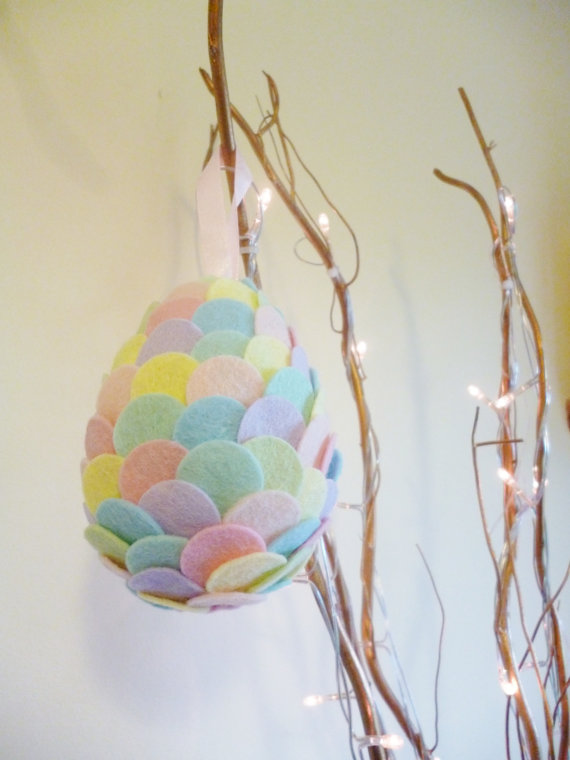 Easter decoration handmade felt decoration in by NCFeltSupplies
