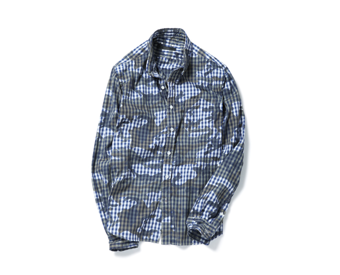 SOPHNET. | PRODUCT | CAMOUFLAGE OVER PRINT B.D SHIRT