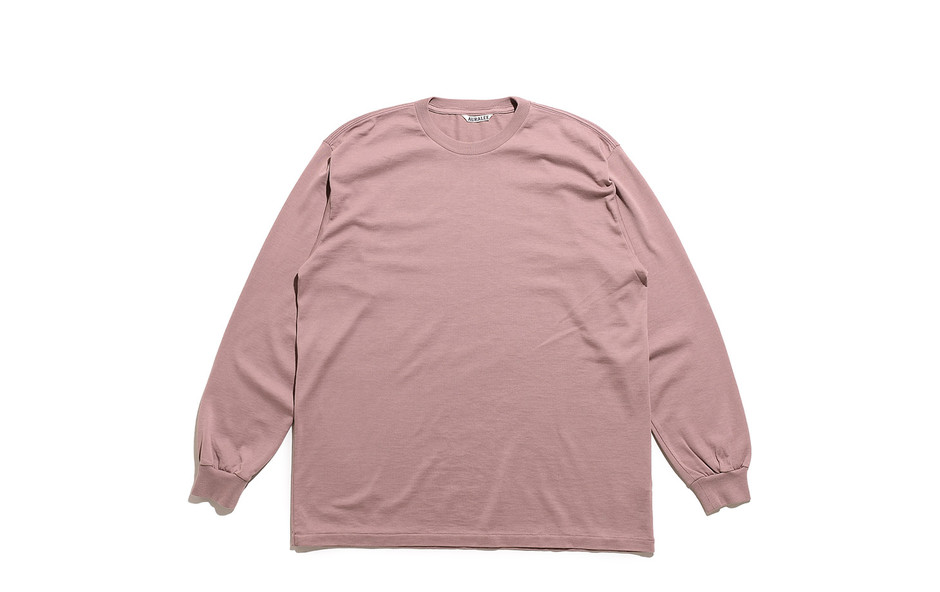 Luster Plaiting L/S Tee-Light Brown