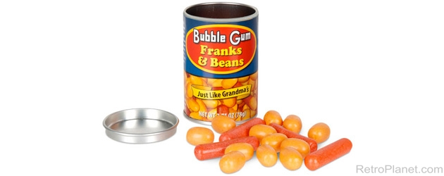 Fun Unique Retro Gifts, Toys and Candy: Franks and Beans Gumballs RetroPlanet.com